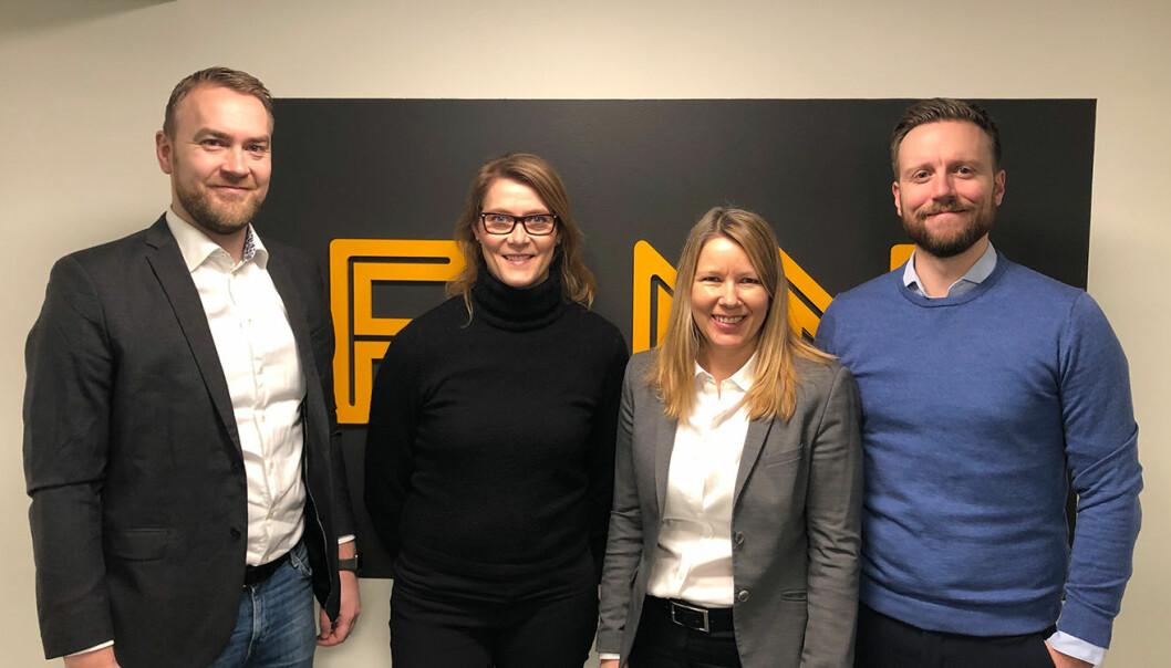 Fonn-teamet: Jan Tore Grindheim, Kine Lunde, Hilde Sælen og Daniel Skotheim. Foto: Fonn.