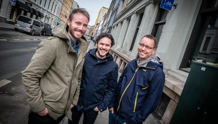Outtt-teamet i Oslo: Erlend Eggen, Aaron Beaton og Espen Oldeman Lund. Arkivfoto: Vilde Mebust Erichsen