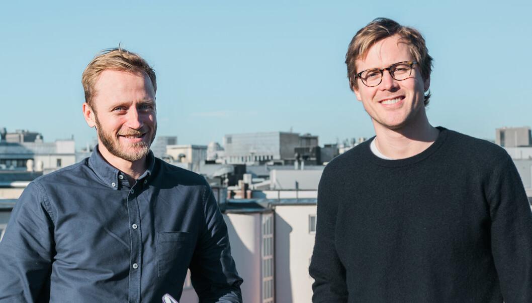 Alva Technologies: Henrik Langeland (gründer og CEO), og Sindre Sangnes (data scientist). Foto: Benedicte Tandsæther-Andersen