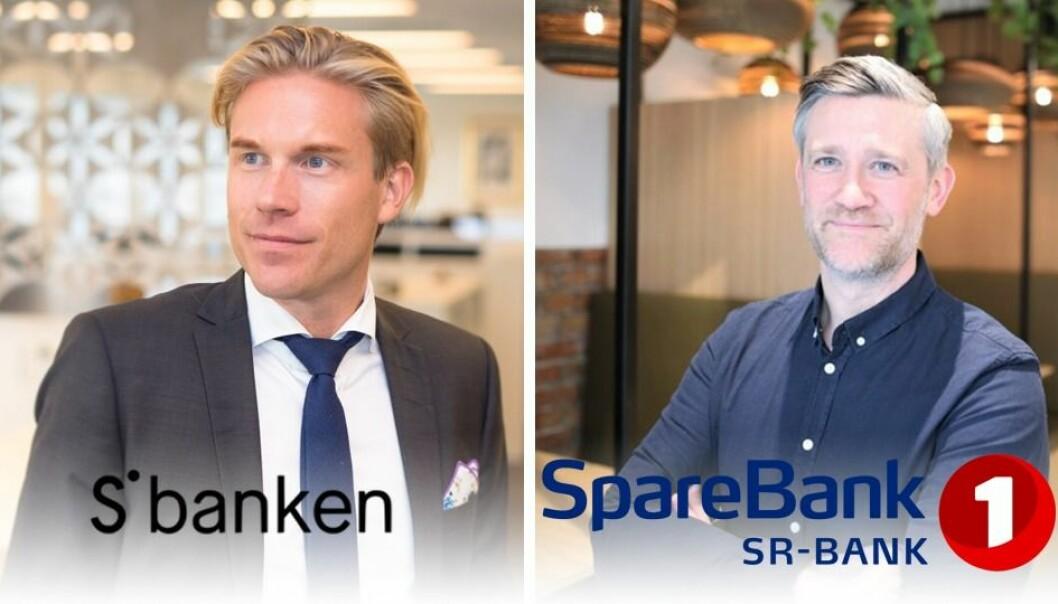 Christoffer Hernæs, CDO i Sbanken og David Baum, daglig leder i Finstart Nordic, investeringsarmen til Sparebank1 Sr Bank. Foto: Sbanken/LucasWeldeghebriel