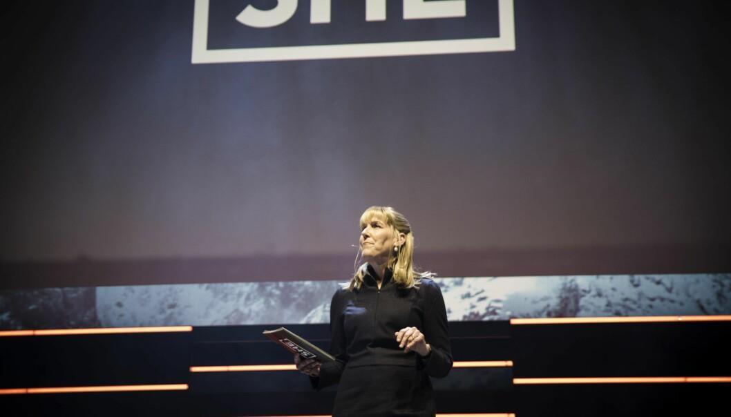 Investor Sonja Hoel Perkins under SHE-konferansen 2019. Foto: Per-Ivar Nikolaisen