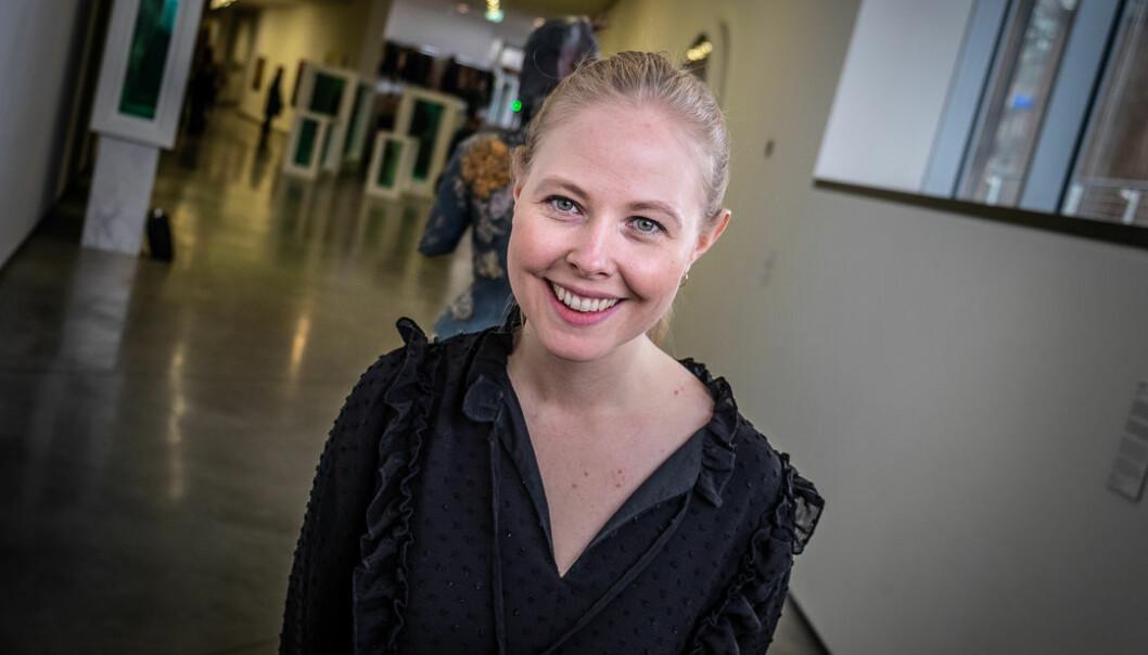 Fjong-medgründer Sigrun Syverud under kåringen av årets kvinnelige gründer. Foto: Vilde Mebust Erichsen