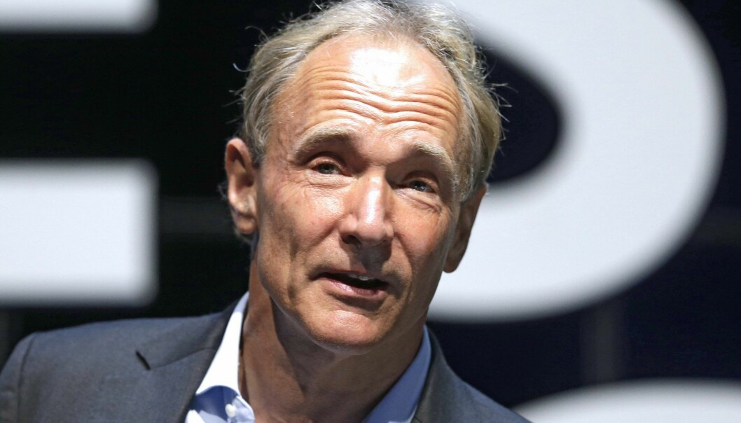 English computer scientist Tim Berners-Lee, best known as the inventor of the World Wide Web. Foto: AP Photo/Lionel Cironneau