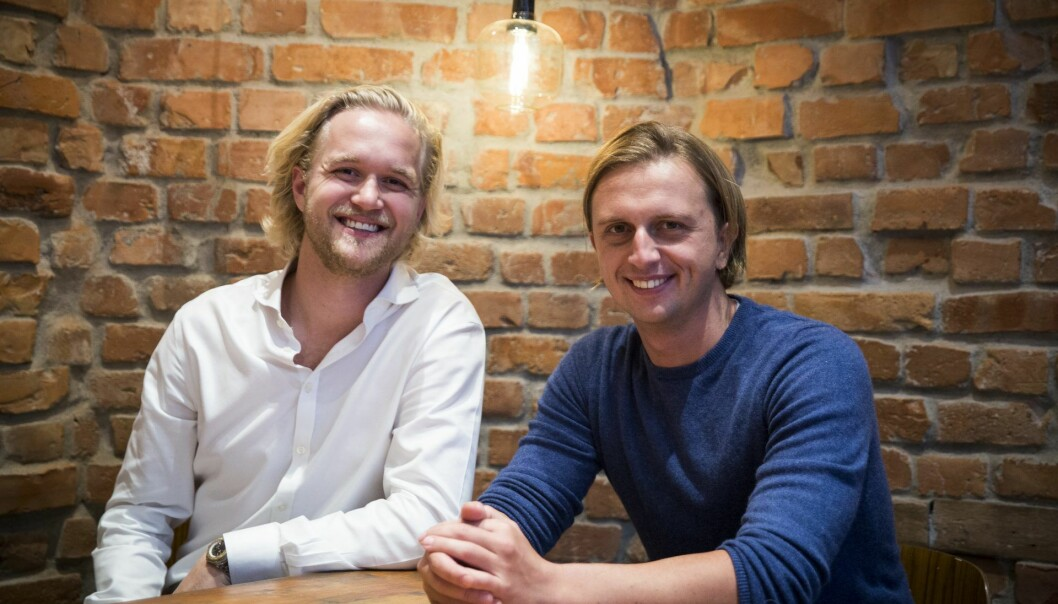 Revolut founder Nik Storonsky and the head of Nordic Operations Espen Myklebust (to the left) som Norges-sjef og den som skal sørge. Foto: Per-Ivar Nikolaisen
