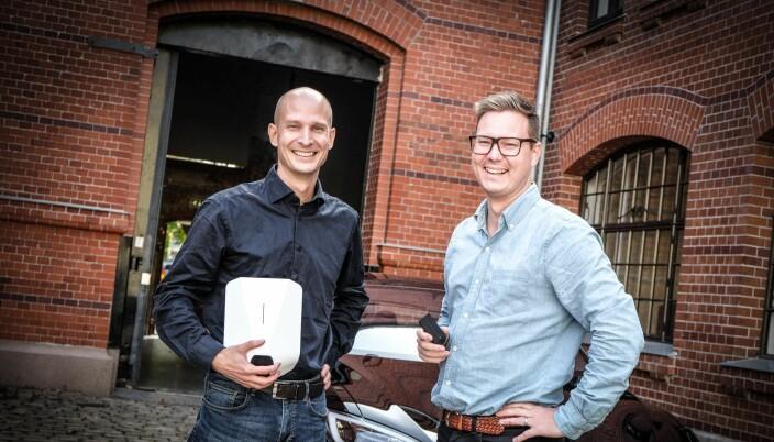 Tibber-gründerne Edgeir Aksnes and Daniel Lindén.
