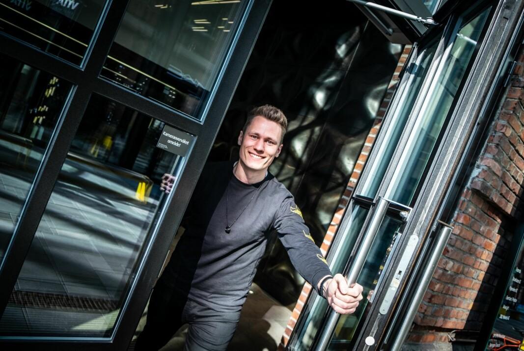 Unloc-gründer Kris Riise utenfor selskapets kontorer på Arkwright X i Oslo.