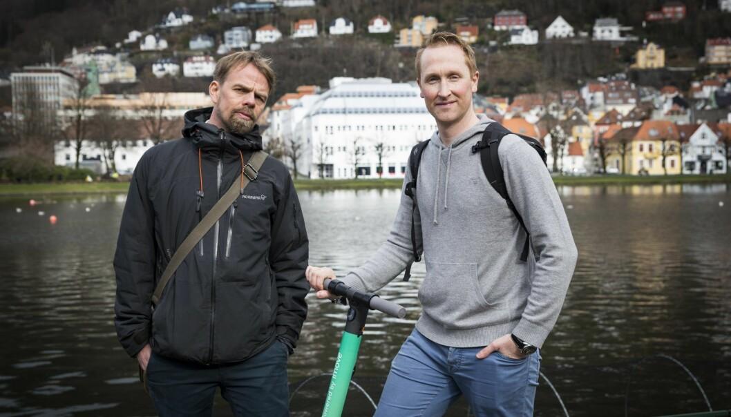 Anders Waage Nilsen og Hans Kristian Aas i New. Foto: Per-Ivar Nikolaisen