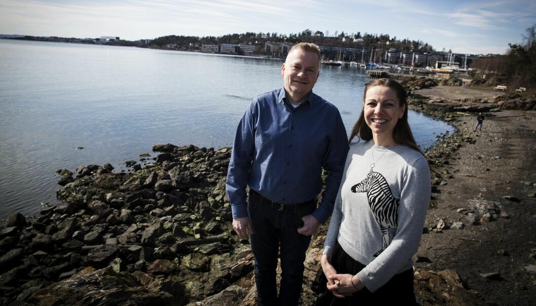 Kjetil Svartdal i If og Heidi Frost Eriksen i Technebies. Foto: Per-Ivar Nikolaisen