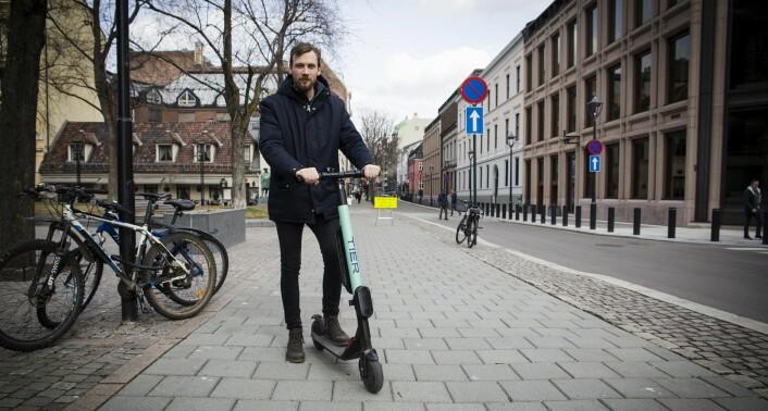 Christian Drabløs er oppgitt over hvor mange sykler fra Tier han har prøvd, men som ikke har virket. Foto: Per-Ivar Nikolaisen