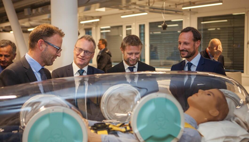 EpiGuard var et av de norske selskapene som i fjor fikk tildelt 25 millioner av EUs Horizon 2020. Her under åpningen av Aleap. Foto: EpiGuard