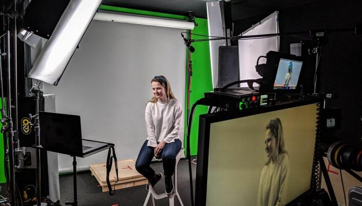 Marit Rødevand i Strise under innspilling av en video vist på Google Next, gigantens største konferanse.