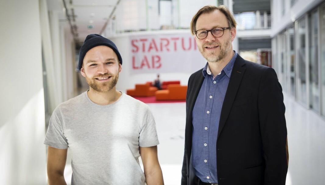 Kjetil Holmefjord i StartupLab og Stig Nordal hos advokatene Sands.