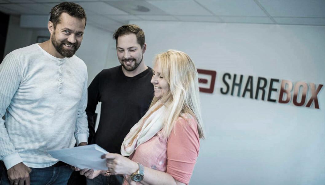 Sharebox-sjef Arne Eivind Andersen (til venstre). Foto: Sharebox