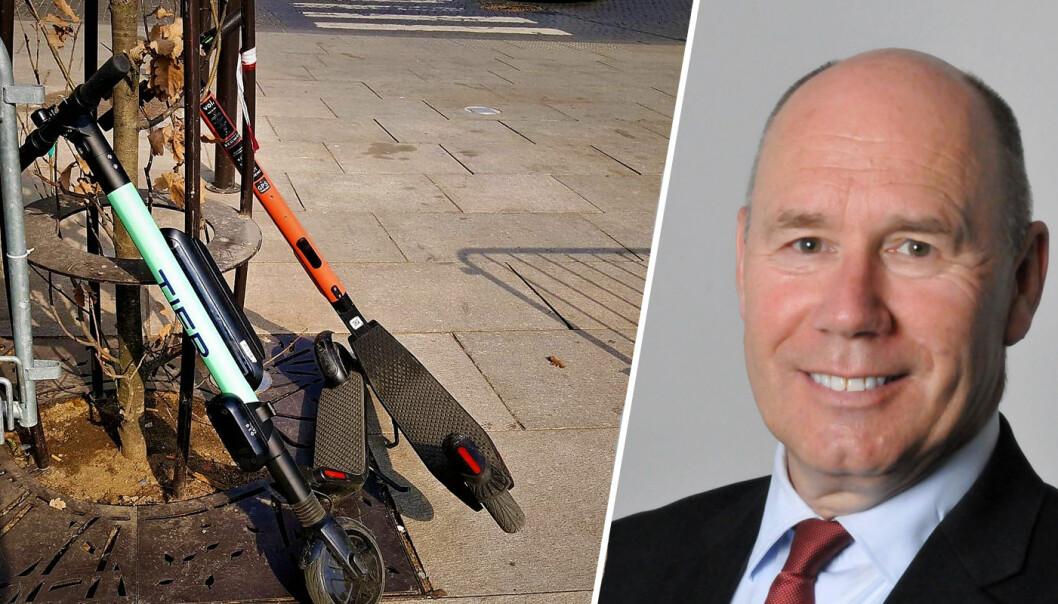 Professor Tor W. Andreassen har ikke tro på at sparkesykkel-crazen vil vare.