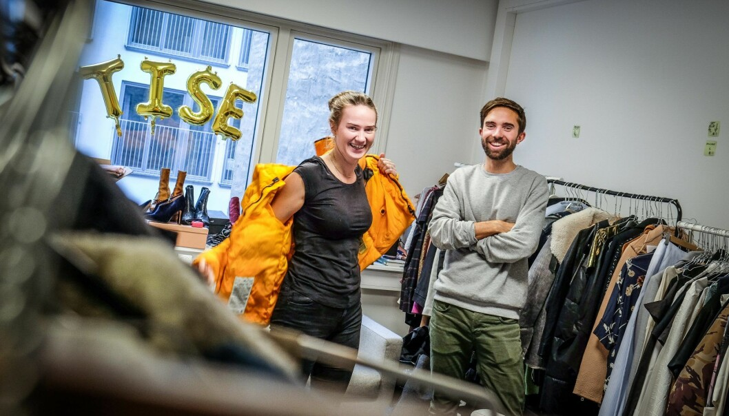 CEO Eirik Frøyland Rime og markedssjef Victoria Terese Hauk i Tise.