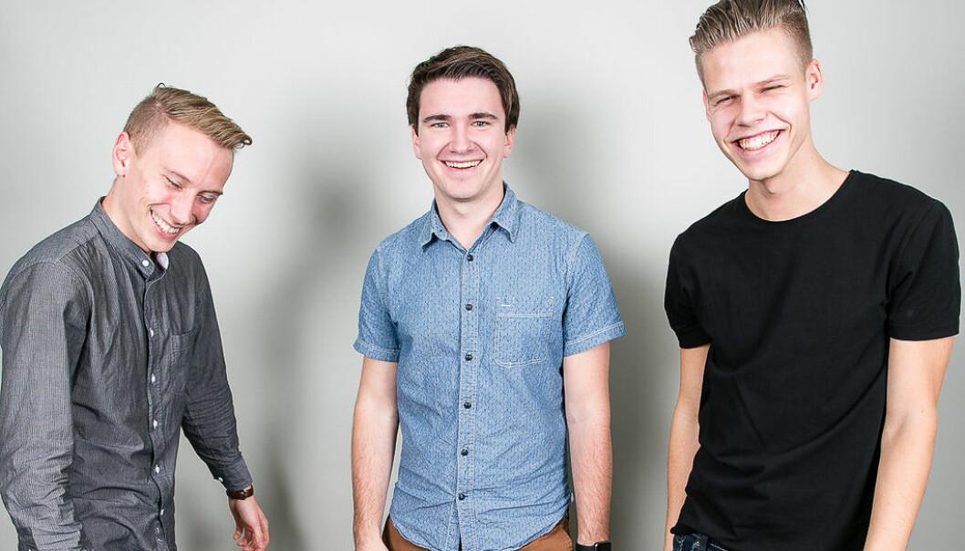 Spare Labs-gründere: Kristoffer Vik Hansen (f.v.), Josh Andrews og Alexey Indeev. Vik Hansen dro til Vancouver i 2010 for å studere, og trivdes så godt at han valgte å bli.