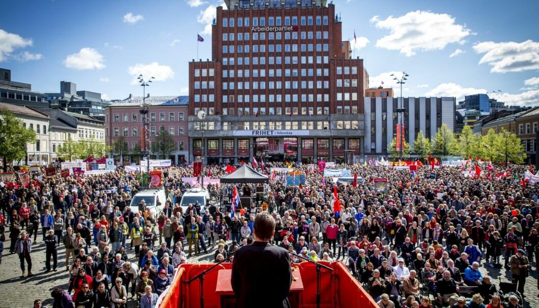 1. mai på Youngstorget. Foto: Erlend Aas / NTB scanpix