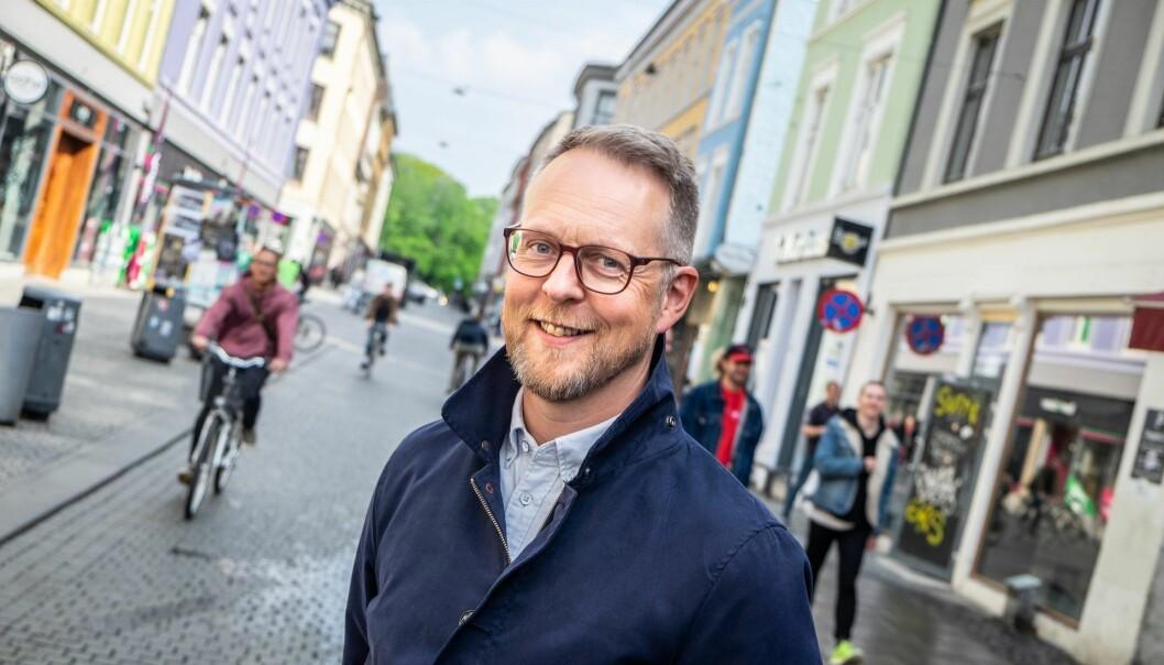Nofence-sjef Erik Harstad på Oslo-besøk fra Batnfjordsøra på Nordmøre. Foto: Vilde Mebust Erichsen