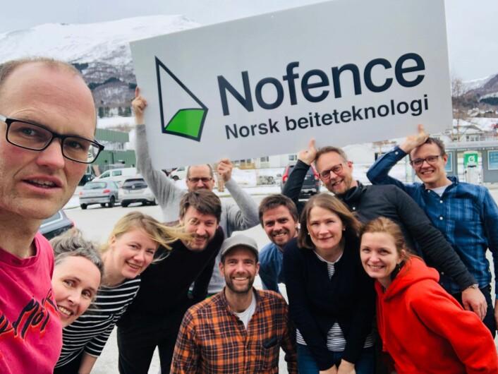 Nofence-teamet. Foto: Privat