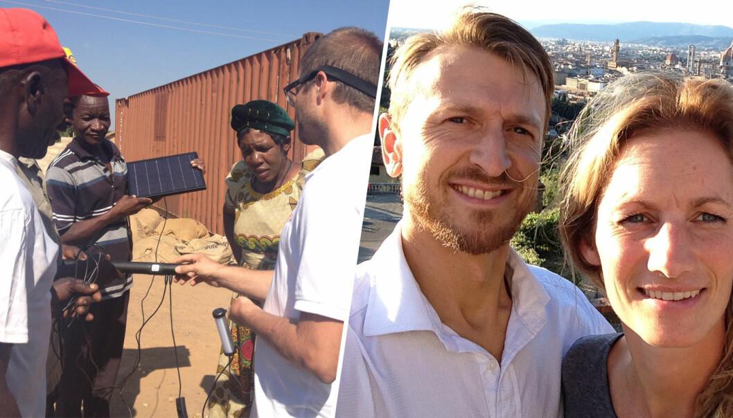 Jostein Sexe og Grete Sexe flytter til Afrika for å jobbe i Solar Village. Foto: Privat
