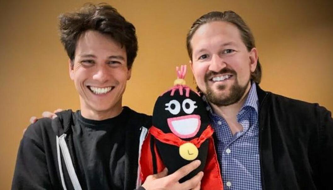 Jean-Baptiste Huynh i Dragonbox (t.v.) og Åsmund Furuseth i Kahoot. Foto: Presse