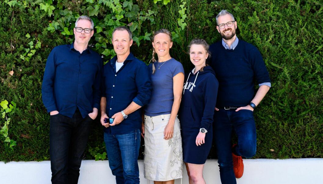 Teamet bak Headshed. Fra venstre: Rune Skjei, Torbjørn Slørdal, Ellen Lippe, Lene-Kristine Garsjø, Magnus Hoem Slørdal