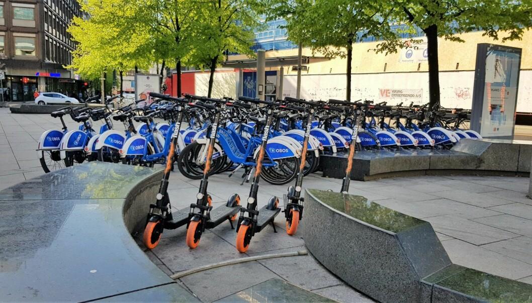 Mandag morgen var en ny sparkesykkelaktør i Oslos gater. Foto: Magnus Peter Harnes