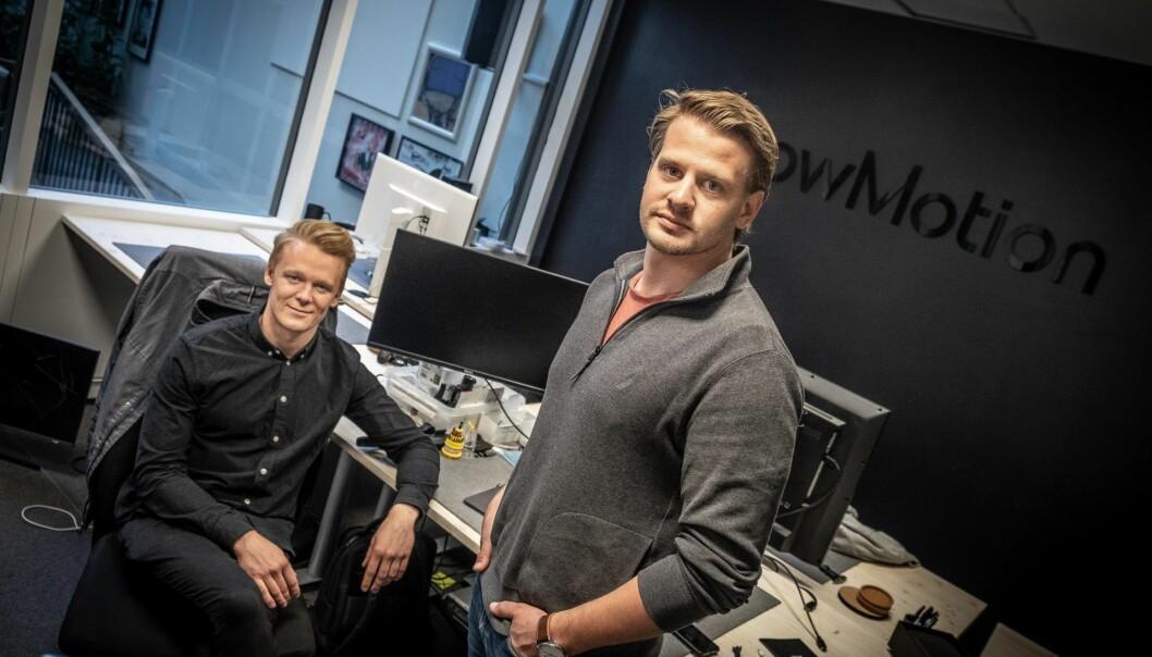 Didrik Dimmen og Lars Flesland i FLowmotion måtte tidligere i år informere kunder om at de hverken får produktet eller pengene tilbake. Foto: Vilde Mebust Erichsen