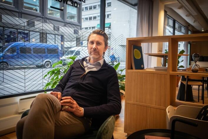 Anders Børde i Moblrn deler gjerne ut eierskap i selskapet - mot godt arbeid. Foto: Magnus Peter Harnes