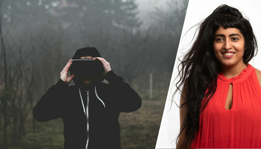 VR-gründer Tina Israni vil la deg rope ut følelsene i en virituell skog.