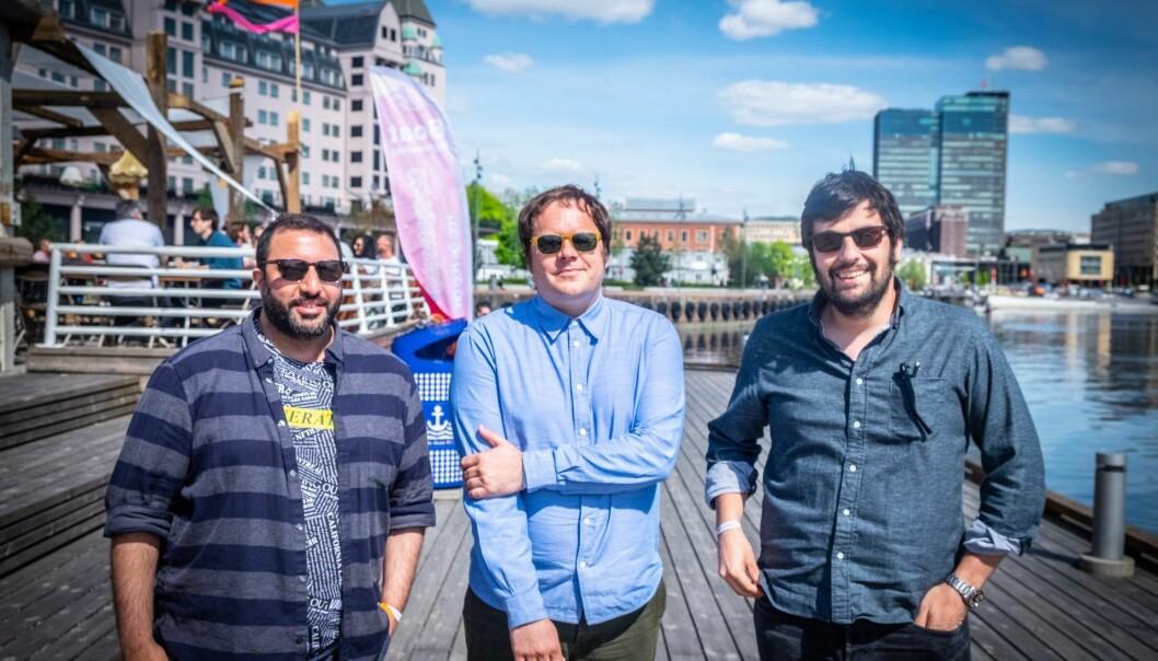 Naeem Lakhani, Eirik Svendsen og Sergio Rodriguez starter nytt matfond under Katapult-paraplyen. Foto: Magnus Peter Harnes