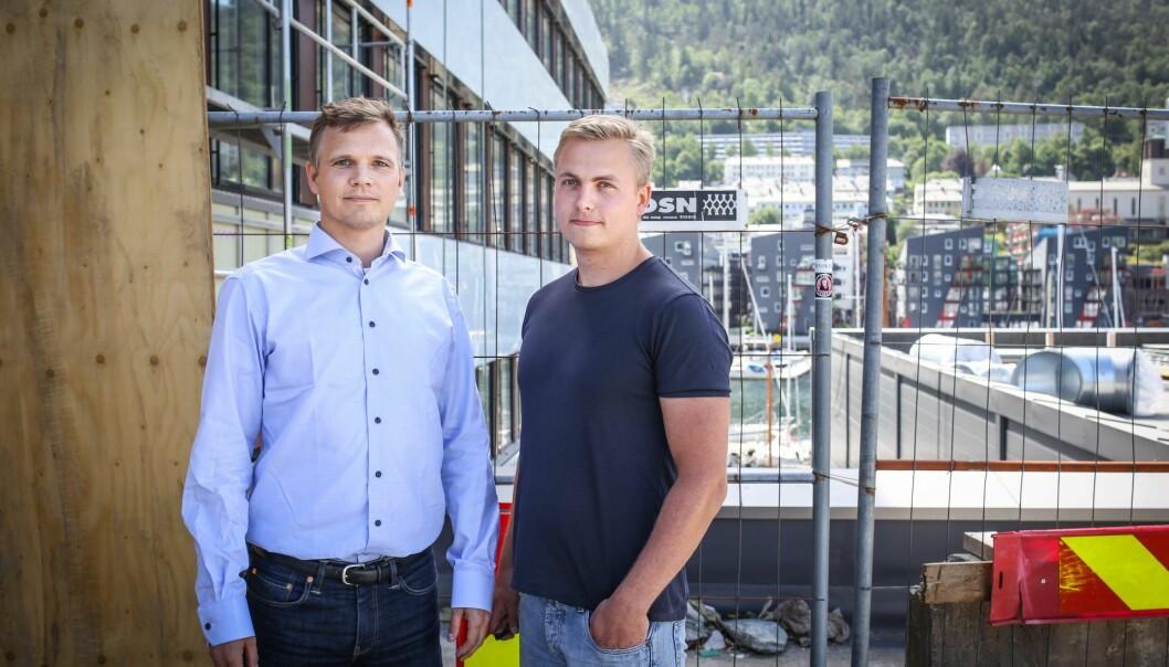 Ditio-gründer Jacob Christian Døskeland (til venstre) og selskapets daglig leder Thor Petter Korsmo. Foto: Margrethe Vikan Sæbø