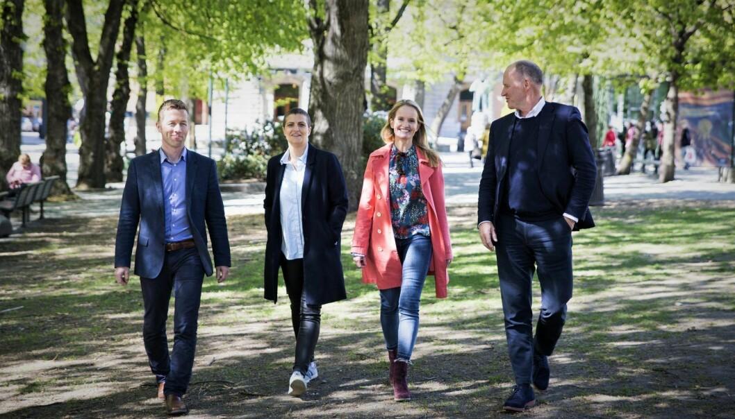André Berg Edvardsen (Skagerak), Alexandra Leisse (Vibbio), Marianne Bratt Ricketts (Vibbio) og Erik Edvard Tønnesen (Skagerak). Foto: Per-Ivar Nikolaisen