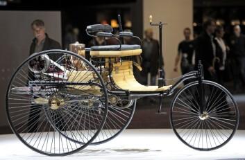 Benz Patent-Motorwagen: Verdens første bil av German Carl Benz fra 1886. Foto: AP Photo/Martin Meissner
