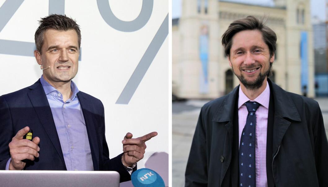Rune Garborg i Vipps og Rasmus Figenschou i DNB. Foto:  Scanpix/DNB