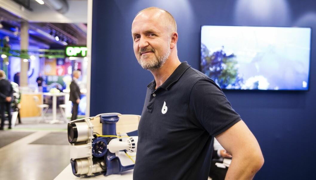 Gründer og daglig leder Erik Dyrkoren i Blueye. Foto: Per-Ivar Nikolaisen