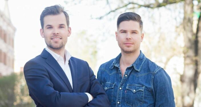 UNACAST: Thomas Walle Jensen (t.v) og Kjartan Slette forlot begge toppjobber i Wimp for å etablere Unacast.  Foto: Unacast