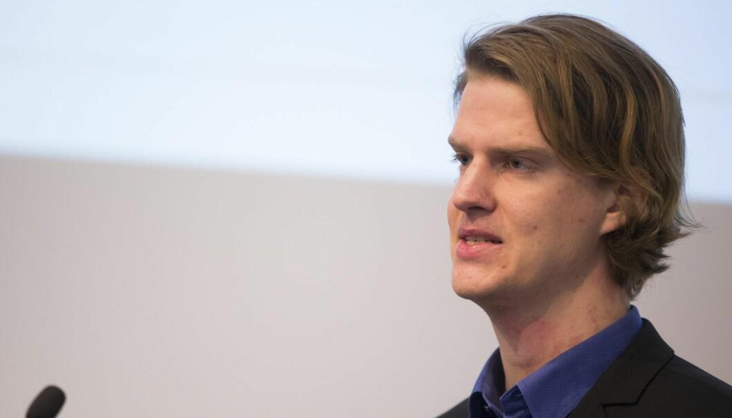 Torbjørn Bull Jenssen, her under LOs finanskonferanse.  Foto: Håkon Mosvold Larsen / NTB scanpix