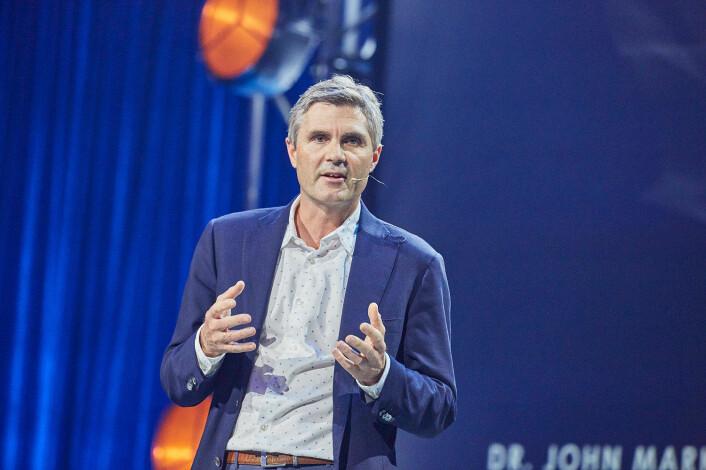Cognite-gründer John Markus Lervik under Ignite-konferansen. Foto: Stig Jarnes