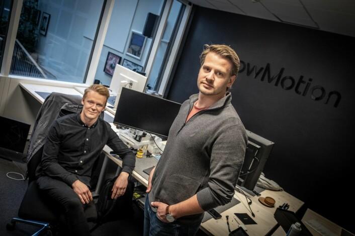 Didrik Dimmen og Lars Flesland har i et halvt år jakt millionene som skal redde skuta. Foto: Vilde Mebust Erichsen