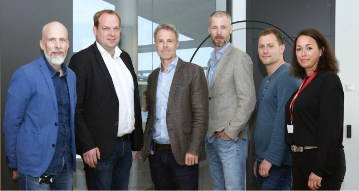 Fra høyre: Anette Nordskog (Styreleder), Sindre Svendby (CTO, Motimate), Lars-Petter Windelstad Kjos (CMO, Motimate), Knut Asplund (Partner i Stayer Invest I AS), Andreas Solberg (Partner i Stayer Invest I AS), Rolf Risnes (CEO, Motimate).