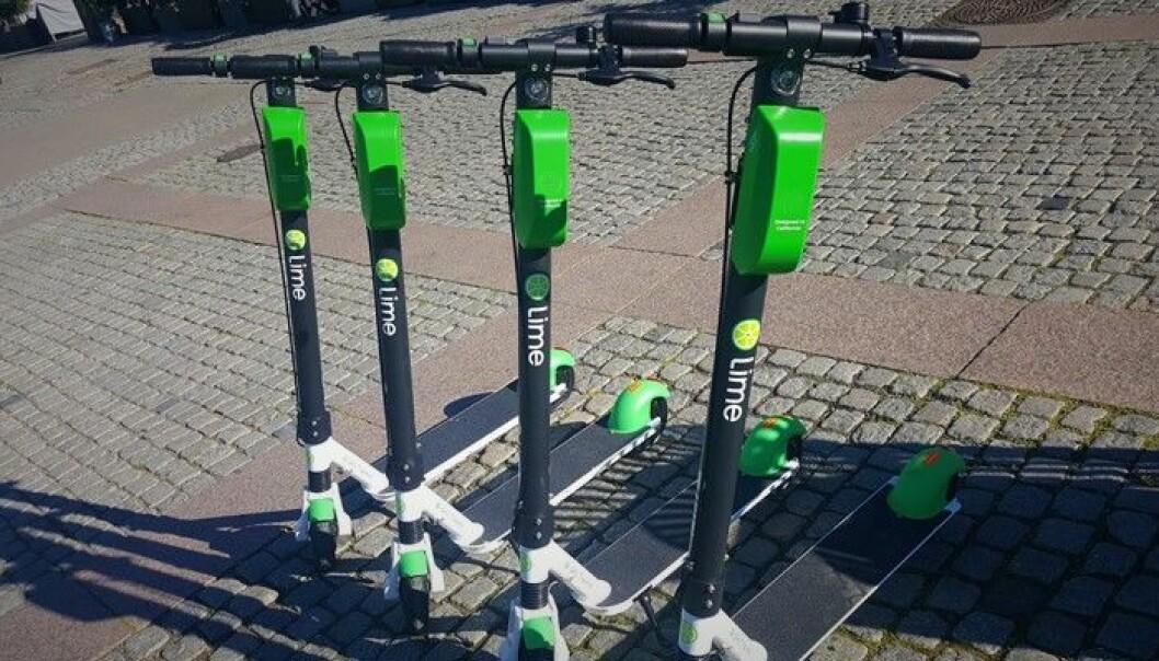 Sparkesykkelgiganten Lime i Oslo. Foto: Torill Henriksen