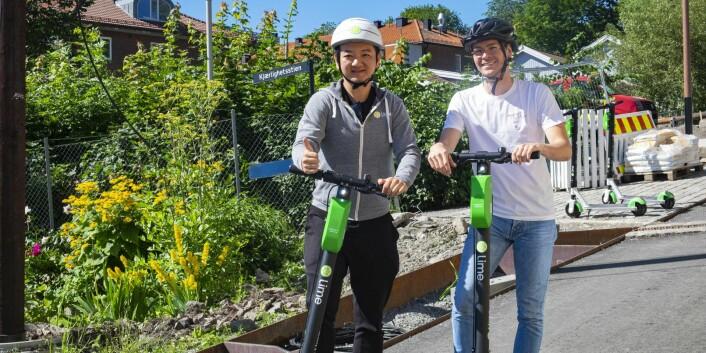 Toby Sun og Jeremy Picard, lanseringsansvarlig for Oslo. Foto: Torill Henriksen