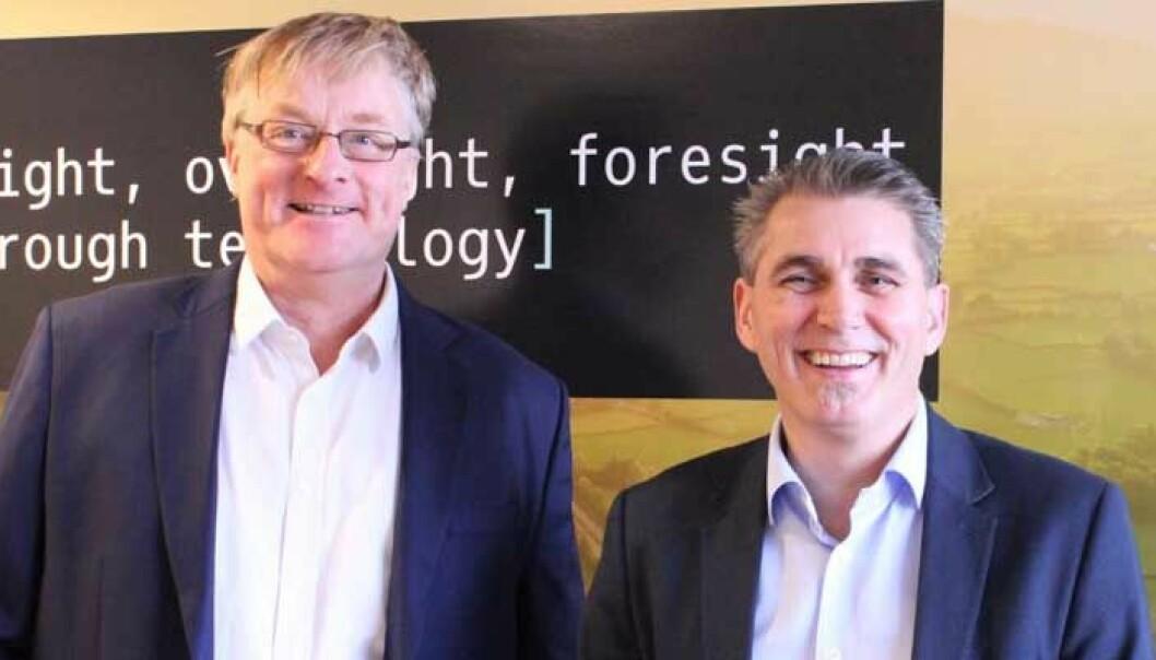 Holger Hussmann går inn i stillingen som R&D Manager i GSGroup. Her sammen med divisjonsdirektør Morten Berntsen. Foto: GSGroup