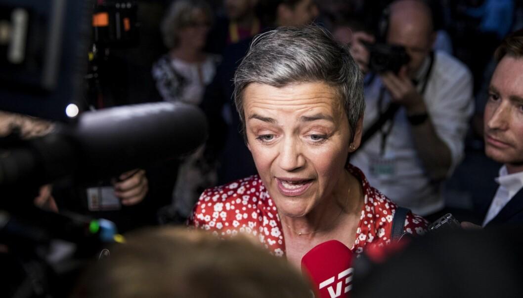 EUs konkurransekommissær, Margrethe Vestager Foto: Nikolai Linares/Ritzau Scanpix via AP