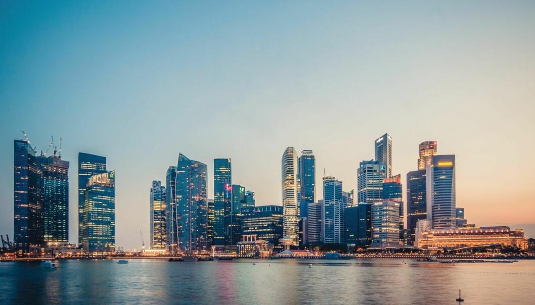 Det nye fondet til AV Growth, som vil ta norske teknologibedrifter til sørøst-Asia, vil være basert i Singapore. Her fra Marina Bay. Foto: Peter Nguyen / CC