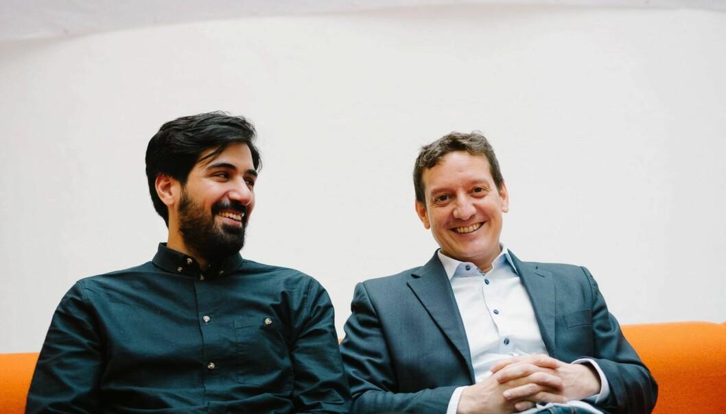 Arash Saidi og John Antonio Nilsen i Convertelligence. Foto: Convertelligence