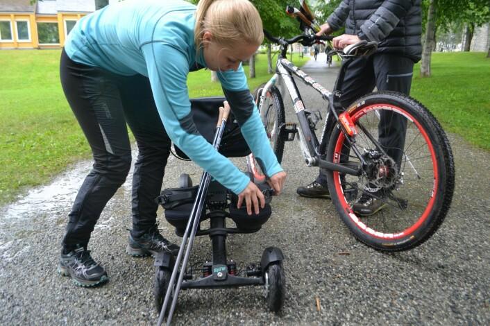 """""""Spike""""-kjelken til Exero Technologies er blant produktene som kan nyttiggjøre seg av bremsesystemet til RollerSafe. Foto: Magnus Peter Harnes"""