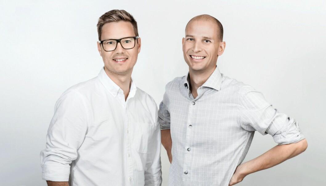 Tibber-gründerne Edgeir Aksnes og Daniel Lindén. Foto: Tibber