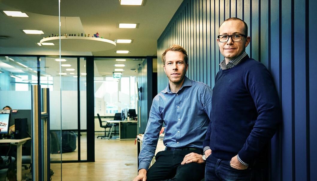 Patrik Berglund og Thomas Sørbø. Foto: Xeneta
